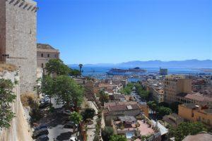 Der Blick vom Castello in Cagliari