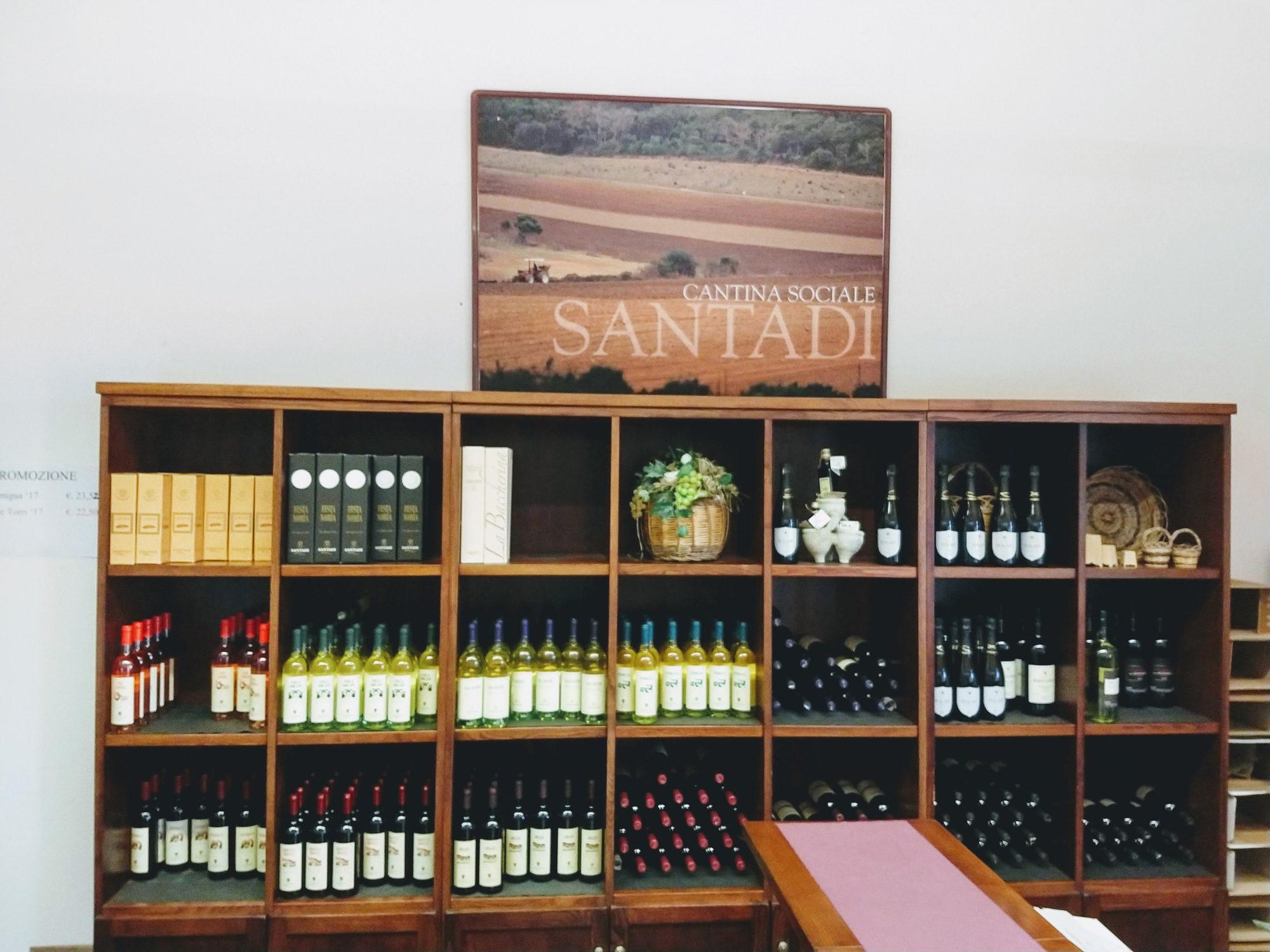 Da Angebot der Cantina Santadi