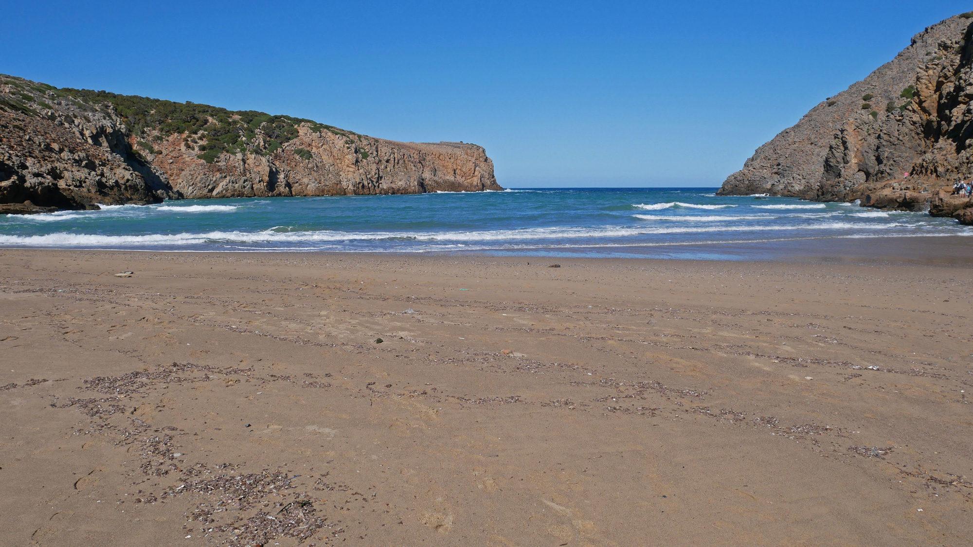 Der Strand der Cala Domestica