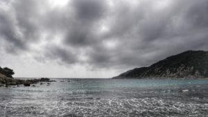 Die Cala Pira bei Sturm