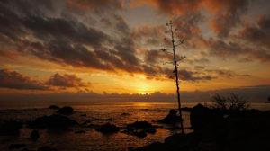 Sonnenaufgang am Strand von Cea