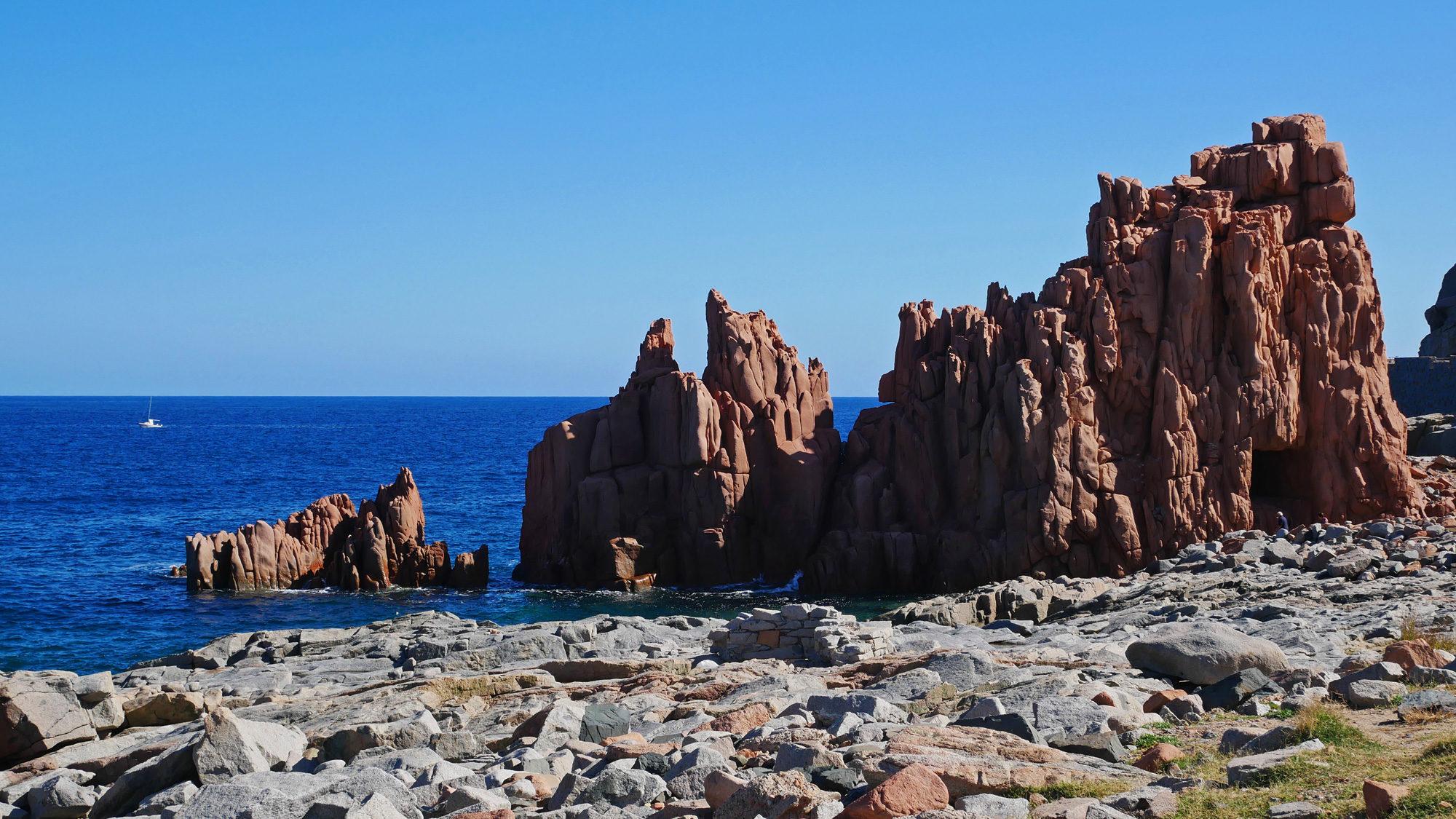 Die roten Felsen von Arbatax