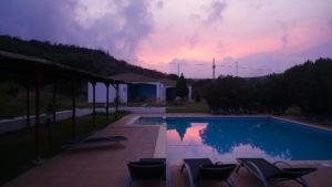 Sonnenuntergang am Resort