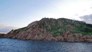 Möweninsel mit der Schutzpatronin der Seefahrer