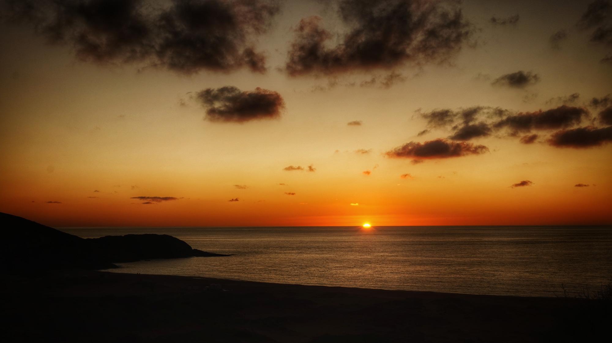 Sonnenuntergang - fotografiert von der Terrasse