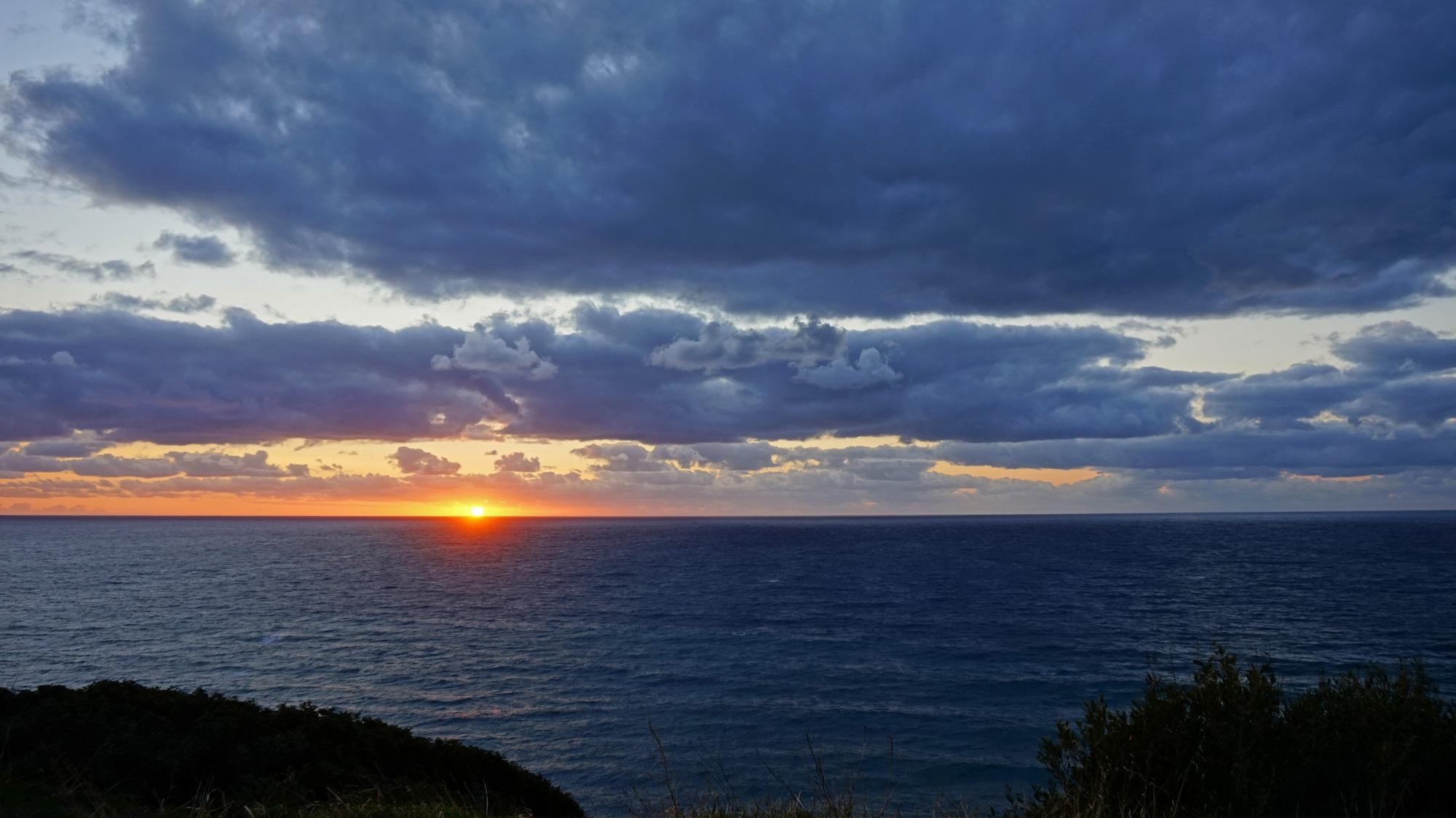 Sonnenuntergang bei Bosa
