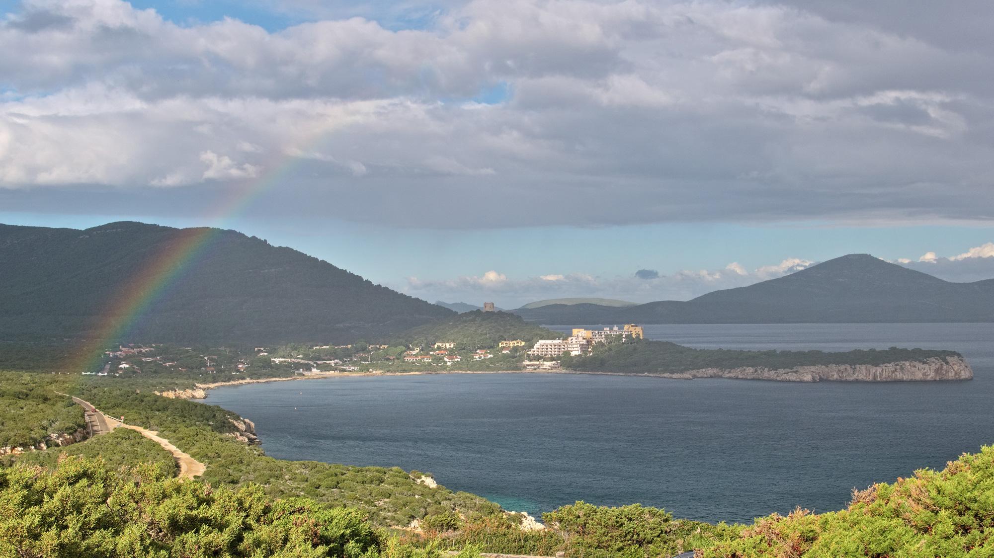 Regenbogen auf dem Capo Caccia