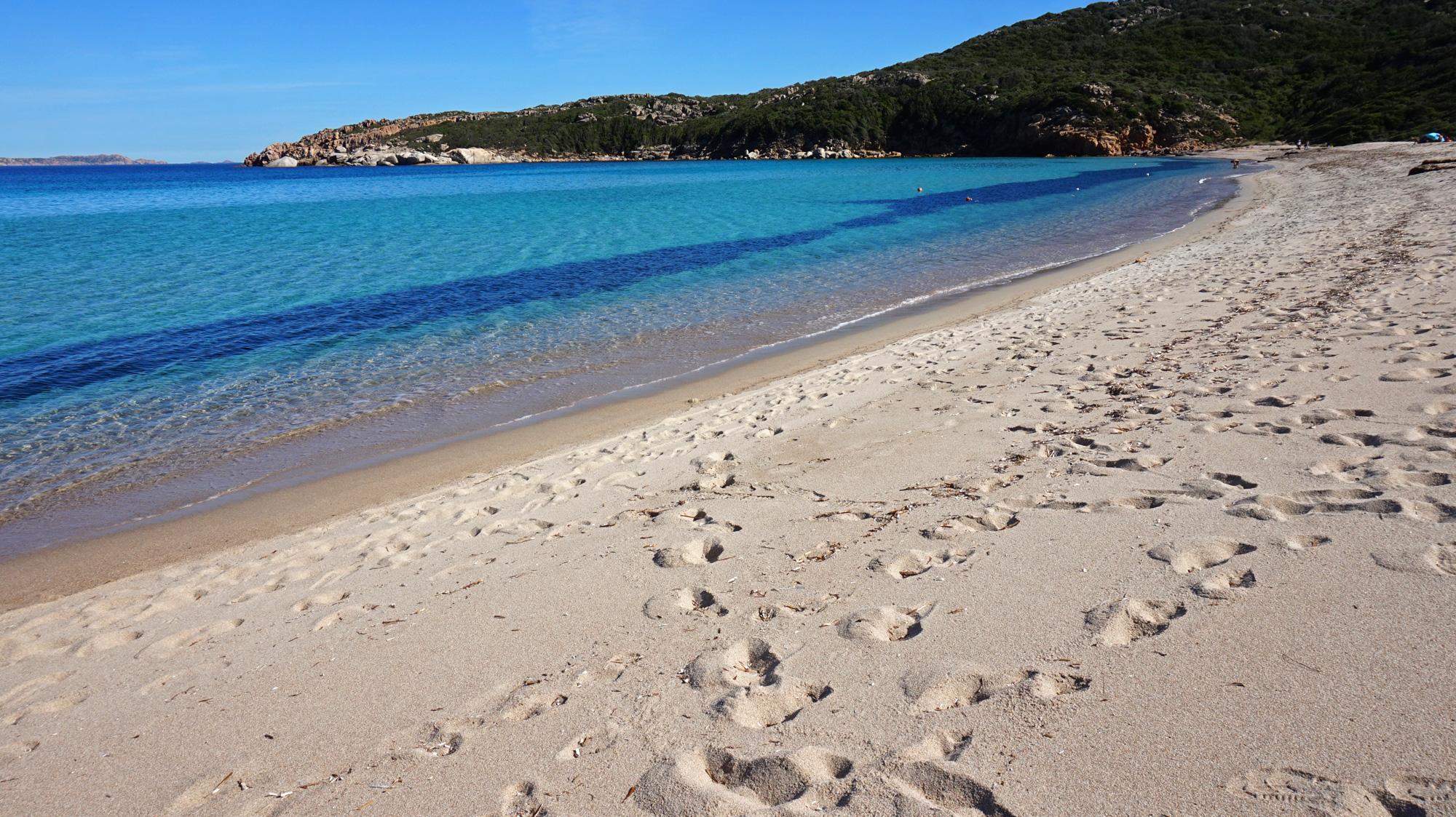 Der Strand La Marmorata ist wunderschön - zumindest im Herbst, wenn er menschenleer ist.