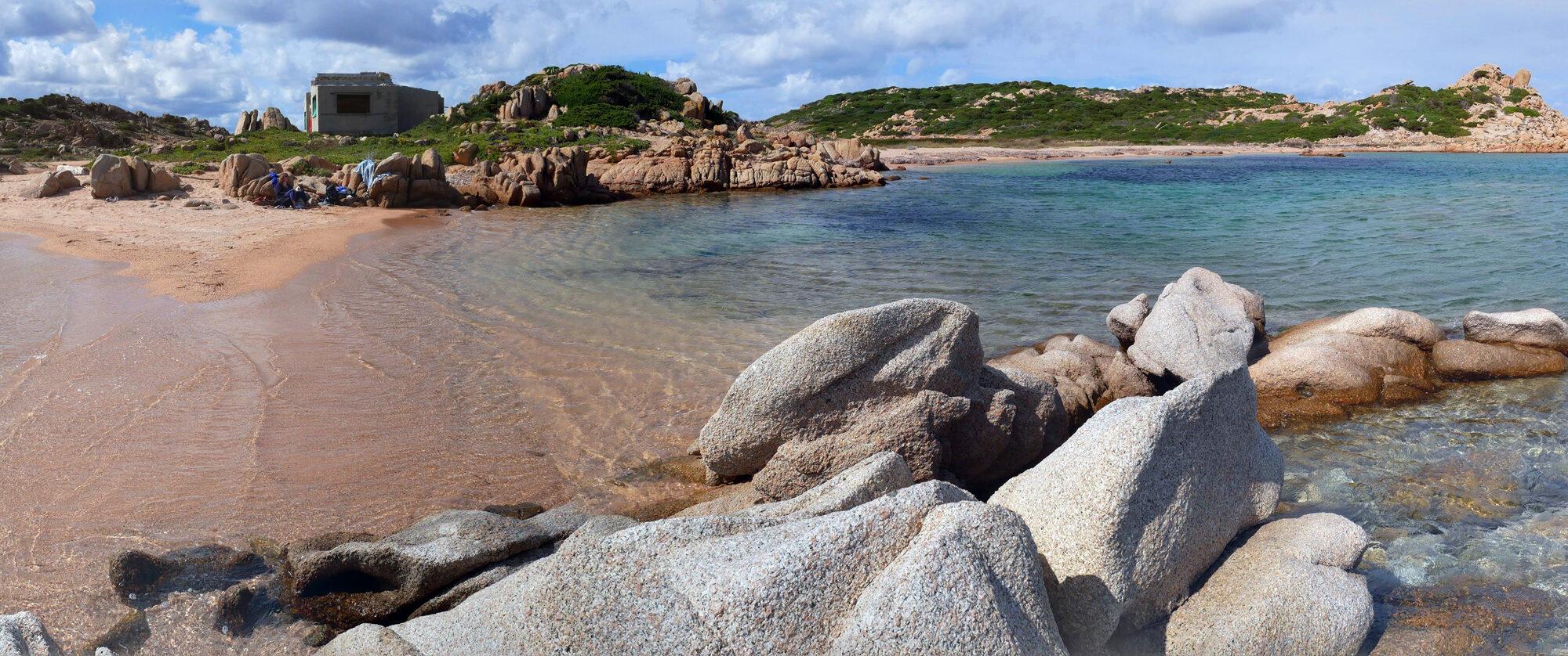 Blick auf den Spiaggia Strangolato